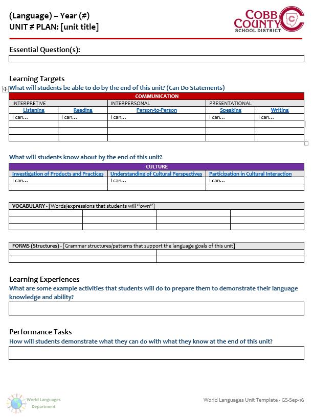 files documents wl unit plan template cobb county world